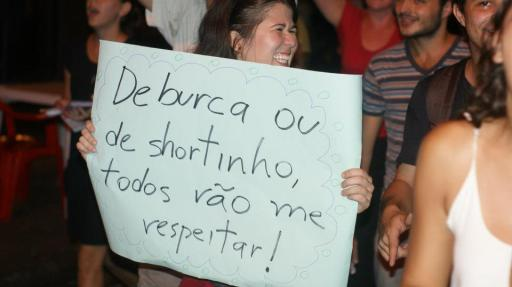 Cartaz da Marcha De La Mujer Latino Americana, Foz do Iguaçu, 08/03/2013