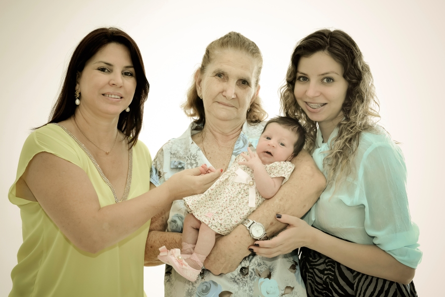 Pra finalizar, a minha foto, com 3 gerações de Mamis!  *-*