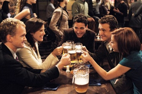 """** ADVANCE FOR WEEKEND, SEPT. 17-18 **n this undated publicity photo released by CBS, actors, from left, Neil Patrick Harris, Cobie Smulders, Josh Radnor, Jason Segel and Alyson Hannigan appear in the new CBS series """"How I Met Your Mother,"""" which premieres at 8:30 p.m., EDT, Monday, Sept. 19, 2005. (AP Photo/CBS, Ron P. Jaffe) 2005 CBS BROADCASTING INC.  All Rights Reserved. CBS  """"How I Met Your Mother"""" is a smart, sexy new comedy in the """"Friends"""" tradition, with, from left, Neil Patrick Harris, Cobie Smulders, Josh Radnor, Jason Segel and Alyson Hannigan."""